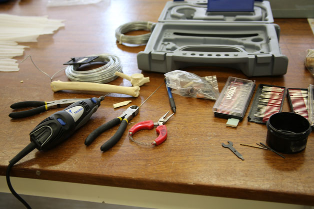 Tools and equipment used