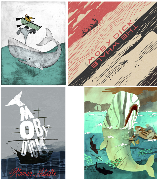 Moby Dick illustrations (R. A. Forshall, L. Pearson, Book Covet, Kiss my Shades)